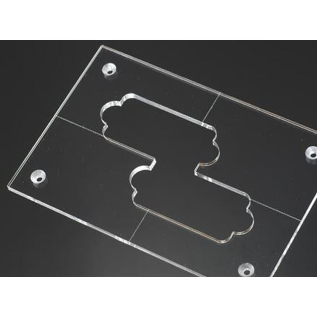 Picture of P-bass pickup routing template