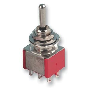 Afbeelding van 6 pole mini toggle switch ON-OFF-ON