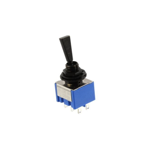 Picture of Mini Lever Switch On/On/On - Black