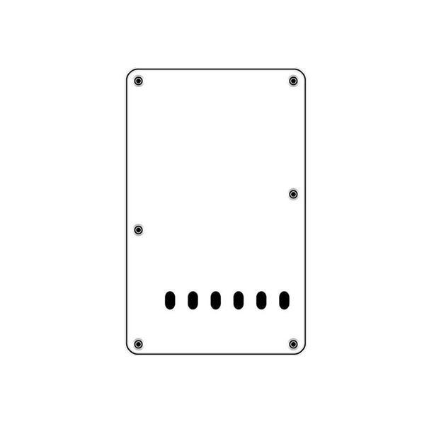 Afbeelding van Backplate white 6 holes 3-ply