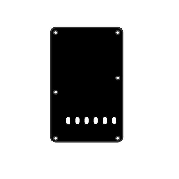 Picture of Backplate black 6 holes 1-ply