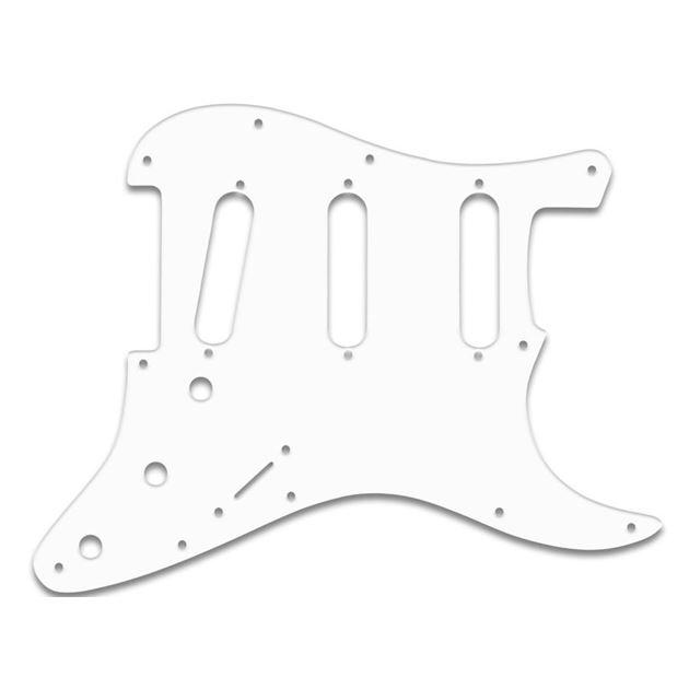 Afbeelding van Stratocaster Slagplaat SSS - Wit - Zwart - Wit