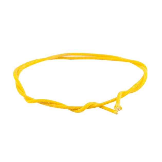 Picture of Gavitt Cloth Covered Push-Back Wire - Yellow - 1 meter