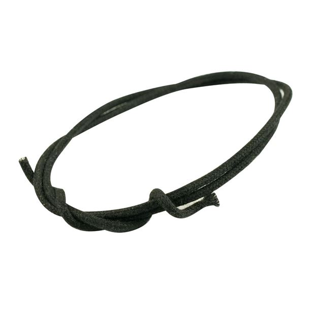 Picture of Gavitt Cloth Covered Push-Back Wire - Black - 1 meter