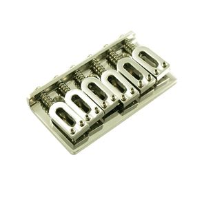 Picture of Hipshot® 41200M 6 String Hardtail Guitar Bridge Chrome Modern Spacing