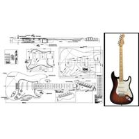 Picture of Fender Stratocaster Blueprint