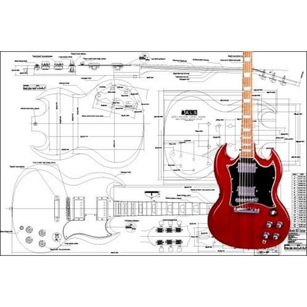 Picture of Gibson SG Standard Bouwtekening
