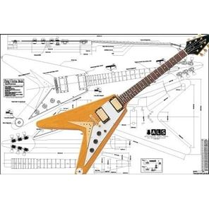 Picture of Gibson Flying V Korina Blueprint