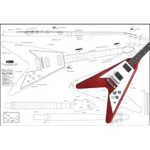 Picture of Gibson '67 Flying V Blueprint