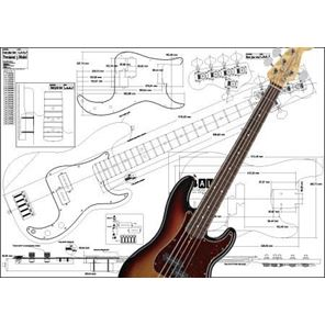 Picture of Fender Jazzbass 5-string Bouwtekening