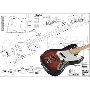 Afbeelding van Fender Jazzbass 4-string Bouwtekening