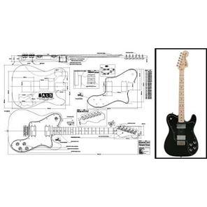 Afbeelding van Fender Telecaster Deluxe Bouwtekening