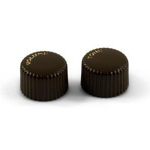 Picture of Vintage Cupcake Knob Set of 2 - Brown