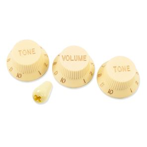 Picture of Stratocaster Knob Set with Tip - Cream
