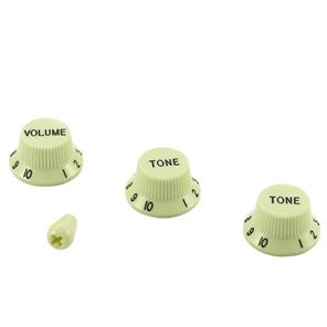 Picture of Stratocaster Knob Set with Tip - Mint