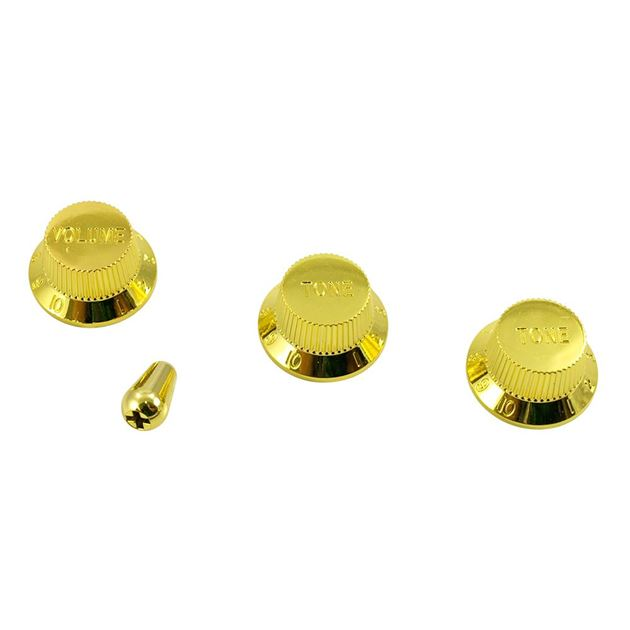 Picture of Stratocaster Knob Set with Tip - Gold