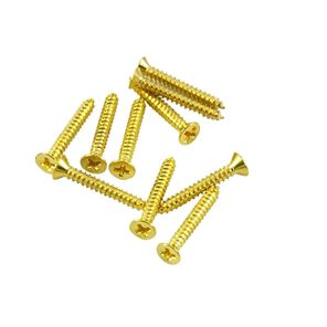 Picture of Humbucker Pickup Mounting Ring Screw Long - Bag of 10 - Gold